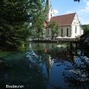 Před Ulmem volíme alternativní stezku podél řeky Blau.