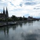 Panorama Regensburgu. Za městem se cítíme líp