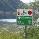 Musíme se přeladit na jiné značení Dunajské stezky.