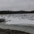 Zamrzlý rybník Cikán (ještě se dalo bruslit)