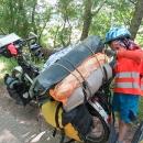 Užírání baget během cesty