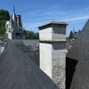 Výhled na střechy zámku