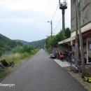 Besançon - cykloservis šikovně nastrčený hned u cyklostezky