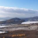 Výhled z Hrádku na další kopečky
