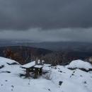 Výhledy z vrcholu kazí zamračená obloha