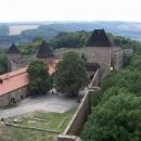 Další pohled na Helfštýn a okolí z hradní věže