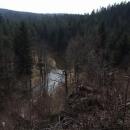Údolí Malše před hradem Loužek