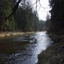 Řeka Malše pod Loužkem, naprostá oáza klidu