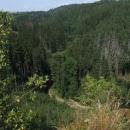 Pohled do údolí Bobrůvky