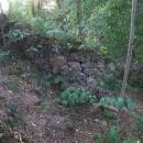Zbytky zdí hrádku Újezd