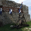 Ukázka středověkých zbraní na Beckově