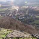 Pohled z Kalicha na ves Třebušín