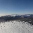 Pohled z věže směrem k Dlouhým stráním