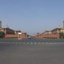 Paláce v centru Nového Dillí, v pozadí Prezidentský palác, to je prostoru všude