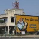 V Indii se hodně buduje, reklama na cement byla na každém kroku