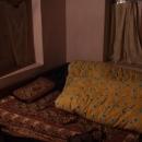 Hotelový pokoj je pěkně vymrznutý, všechno oblečení, spacák a tlustá deka je tak akorát