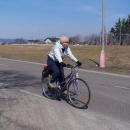 Markéta ve slušivém cyklistickém dresu :-)