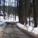 Cyklotrasa nahoru na Severomoravskou chatu je naštěstí bez sněhu