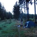 Nocujeme přímo na hranici, ale stále v Čechách :-)