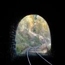 Pohled zpět z tunelu
