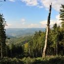 Výhledy směrem do Čech (Vsetínské vrchy)