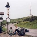 Odpočíváme před poslední částí cesty na nejvyšší horu Jeseníků (Praděd - 1492 m.)