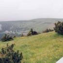 Výhled z Pradědu na Švýcárnu