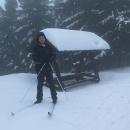 Měníme plán a vydáváme se po známé cestě alespoň na Švýcárnu. Sněhu je všude spousta, minimálně půl metru.