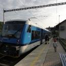 Tyhle vlaky jezdí teď u nás v Těchoníně :-)