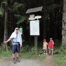 Sedlo Videlský kříž. Během 3 kilometrů nás čeká převýšení přes 400 metrů.