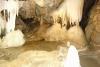 V jeskyni - v jezírku jsou tzv. jeskynní perly (tajné foto - nezaplatila jsem poplatek).