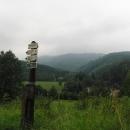 Výhledy na Jeseníky (nebo na Rychlebské hory) od nádraží v Horní Lipové