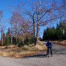 Čekání na křižovatce s kocháním podzimní přírodou