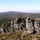 Výhled z Jizery na hřeben Jizerských hor