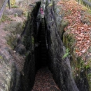 Původní přístup do hradu po tzv.Rytířských schodech