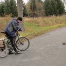 Málem jsme měli na Lesovně nového kamaráda. Mít s sebou vozíček, kam bychom ho naložili ... :-)