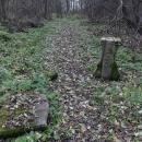 Po pár kilometrech přírodou nacházíme zbytky dávné vsi těsně při hranicích s ČR