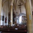 Uvnitř gotického kostela v Horní Stropnici