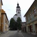 Vysoká věž kostela v Nových Hradech