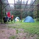 Výborné nocležiště v údolí Libockého potoka na místě bývalého letního tábora