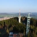 Z vrcholu Svatoboru shlížíme na Sušici a okolí