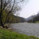 Údolí řeky Ohře pár metrů od chaty,kde jsme bydleli.