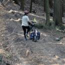 Druhý poznatek: cyklotrasa vedoucí údolím je na dvě věci. Příště raději po silnici.
