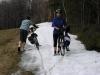 A to se fotíme na zbytcích sněhu - nevíme totiž ještě, co nás čeká