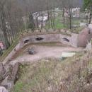Hradby Litice i s dělovými baštami od hradního paláce