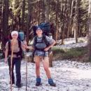První kontakt pohorky se sněhem symbolicky fotíme
