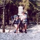 Náš první zdolaný vrchol: Souš (1225 m.). Shěhu je tu po pás.