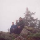 Na vrcholu Klepý (1143 m.) - jinak též Trojmorski Wierch (rozvodí tří moří)