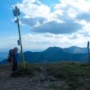 A 1608 metrů vysoký Stoh dobýváme v pozdním odpoledni.