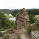 Ruiny nad Berounkou - výhled z Krašova